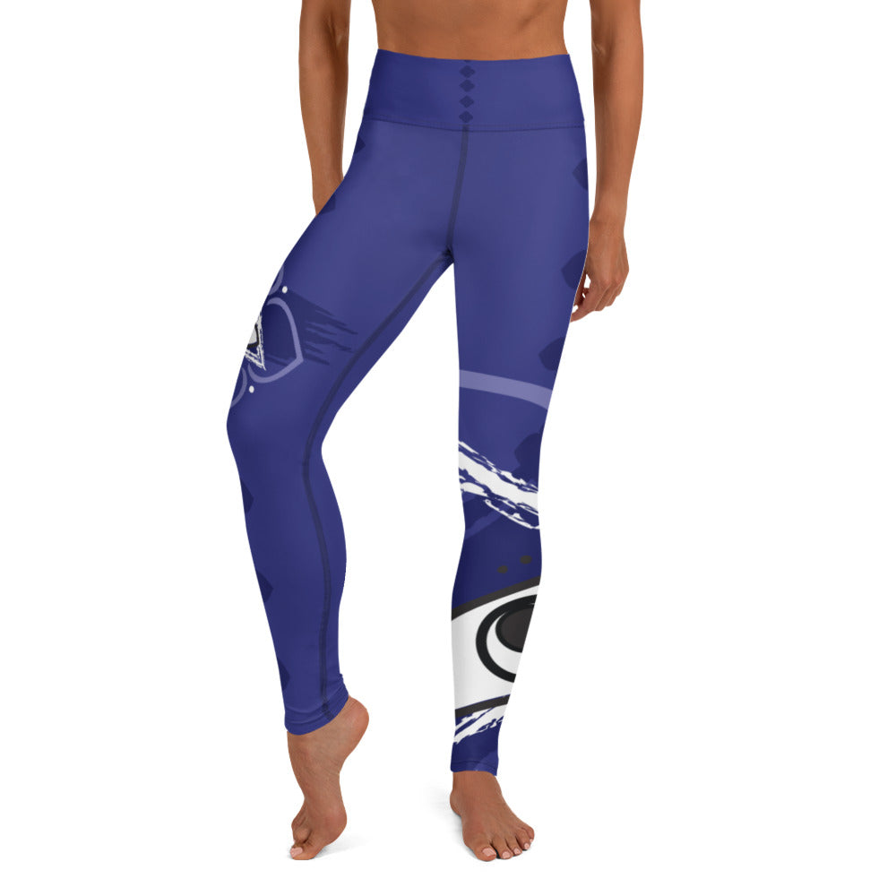 Leggings, Yoga Cut - Chakra Magic: Third Eye Chakra by Mona Idriss