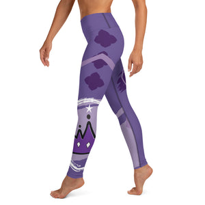 Leggings, Yoga Cut - Chakra Magic: Crown Chakra by Mona Idriss