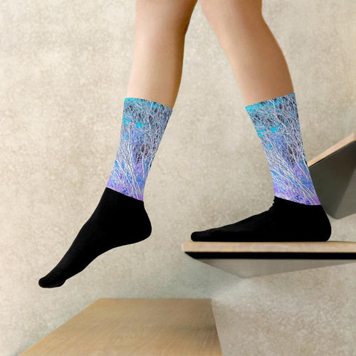 Socks, Unisex - Wrapped in Trees: Sumac Dream by Lidka Schuch