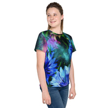 Tween's and Teen's T-shirt - Florals: Cornflower Party by Night by Lidka Schuch