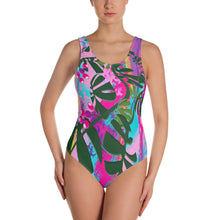 One-Piece Swimsuit - Tropical: Vivid Monstera by Lidka Schcuh