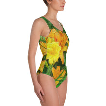One-Piece Swimsuit - Florals: Day-Glo Lilies by Lidka Schuch
