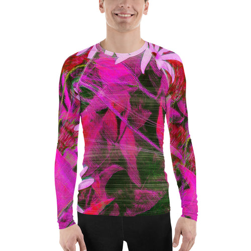 Men's Rashguard - Florals: Very Pink Susans by Lidka Schuch