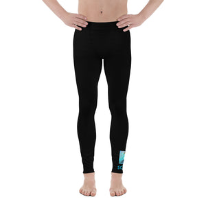 Men's Leggings - SchuchSport: Black Wave by Lidka Schuch