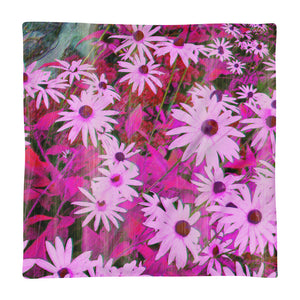 Basic Pillow Case only - Florals: Very Pink Susans by Lidka Schuch