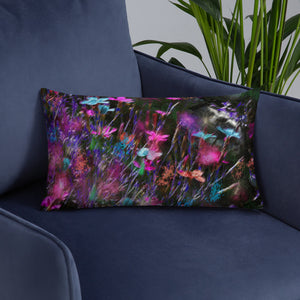 Basic Pillow - Florals: Phlox Party by Night by Lidka Schuch