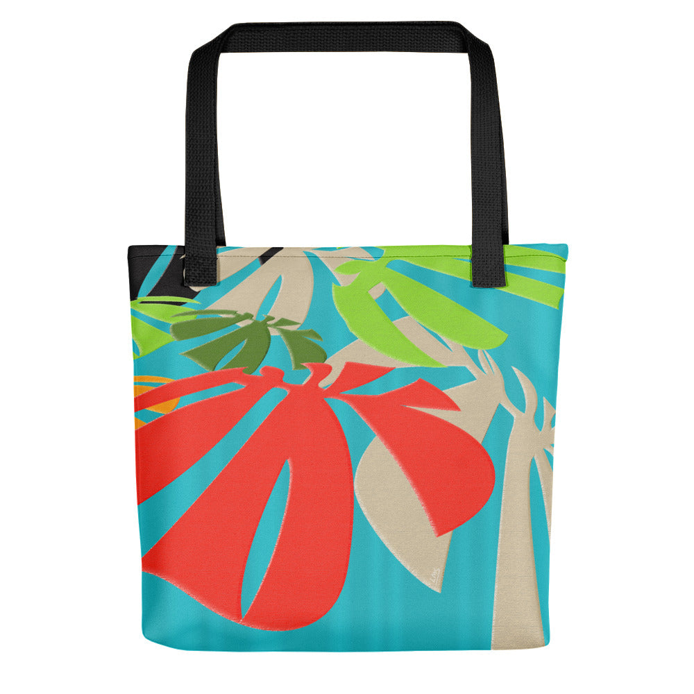Tote Bag - Tropical: Happy Monstera by Lidka Schuch