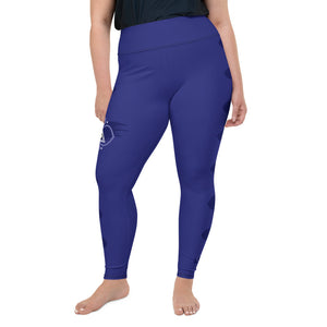 Leggings, plus size - Chakra Magic: Third Eye Chakra by Mona Idriss