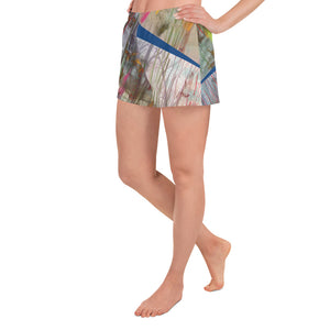 Sport Shorts - Wrapped in Trees: Spring Mambo Blue by Lidka Schuch