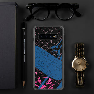 Samsung Case - Yesterday in Parisian Blue and Hot Pink by Barbara Galinska (BaGa)