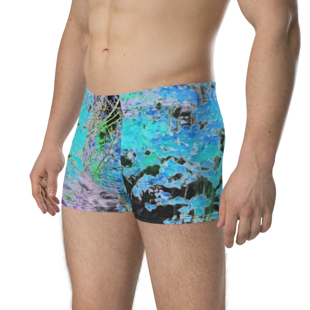 Boxer Briefs - Wrapped in Trees: Maples in Blue by Lidka Schuch