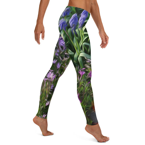 Leggings, Classic Cut - Florals: Friends of Grape Hyacinth by Lidka Schuch