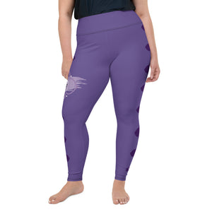 Leggings, plus size - Chakra Magic: Crown Chakra by Mona Idriss