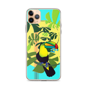iPhone Case - Tropical: Spiral Toucan by Lidka Schuch