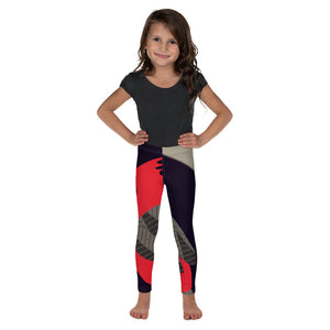 Kid's Leggings - Tweet This: Cardinal Song in Taupe by Lidka Schuch