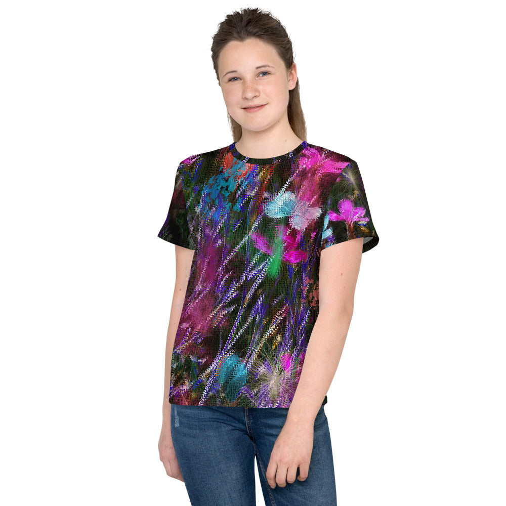 Tween's and Teen's T-shirt - Florals: Phlox Party by Night by Lidka Schuch