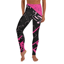 Leggings, Yoga Cut - Yesterday in Hot Pink by Barbara Galinska (BaGa)