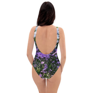 One-Piece Swimsuit - Florals: Friends of Grape Hyacinth by Lidka Schuch