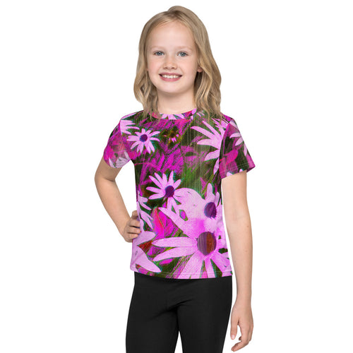 Kid's T-Shirt - Florals: Very Pink Susans by Lidka Schuch