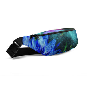 Fanny Pack - Florals: Cornflower Party by Night by Lidka Schuch