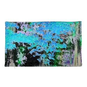 Premium Pillow Case - Wrapped in Trees: Maples in Blue by Lidka Schuch