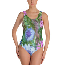 One-Piece Swimsuit - Florals: Cornflower Party by Lidka Schuch