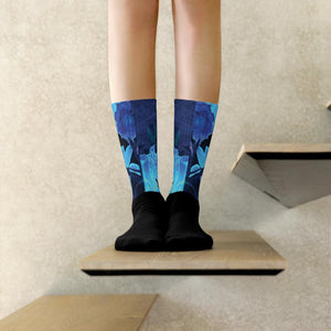 Socks, Unisex - Florals: Night-Glo Lilies by Lidka Schuch (LMS)