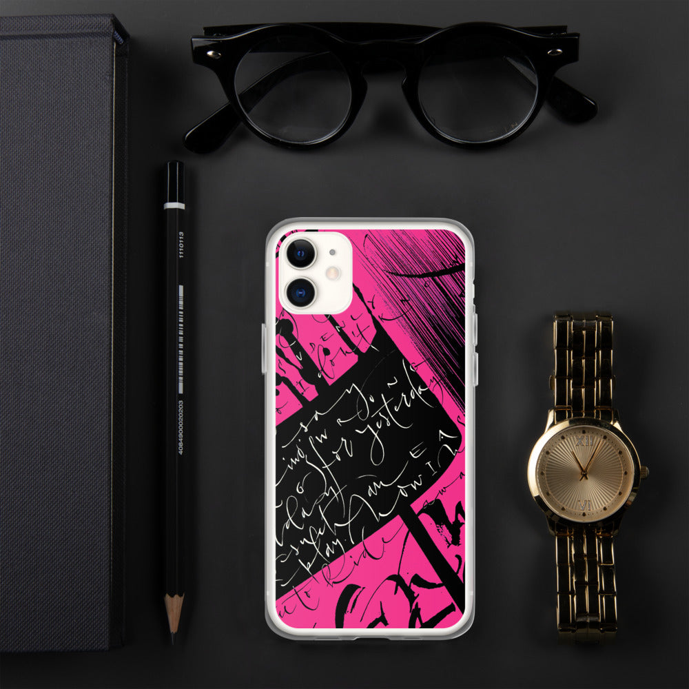 iPhone Case - Yesterday in Hot Pink by Barbara Galinska (BaGa)