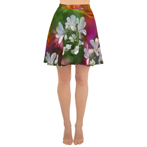 Skater Skirt - Florals: Cilantro Splash by Lidka Schuch