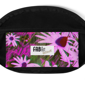 Fanny Pack - Florals: Very Pink Susans by Lidka Schuch
