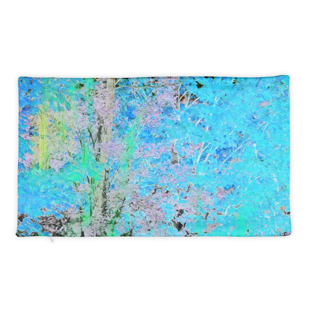 Basic Pillow Case - Wrapped in Trees: Maples in Blue by Lidka Schuch