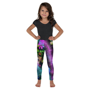 Kid's Leggings - Florals: Cornflower Party by Night by Lidka Schuch