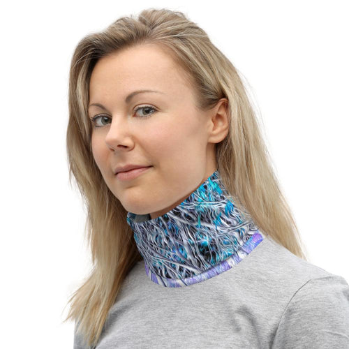 Neck Gaiter - Wrapped in Trees: Sumac Dream by Lidka Schuch