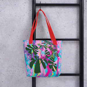 Tote Bag - Tropical: Vivid Monstera by Lidka Schuch