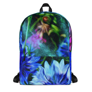 Backpack - Florals: Cornflower Party by Night by Lidka Schuch