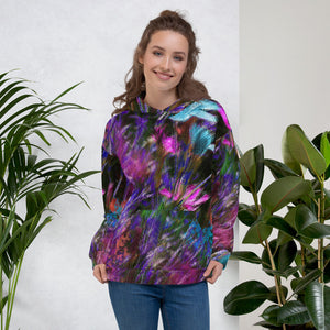 Hoodie, Unisex - Florals: Phlox Party by Night by Lidka Schuch