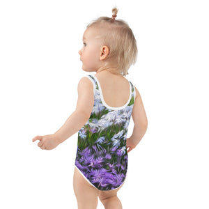 Kid's Swimsuit - Florals: Friends of Grape Hyacinth by Lidka Schuch