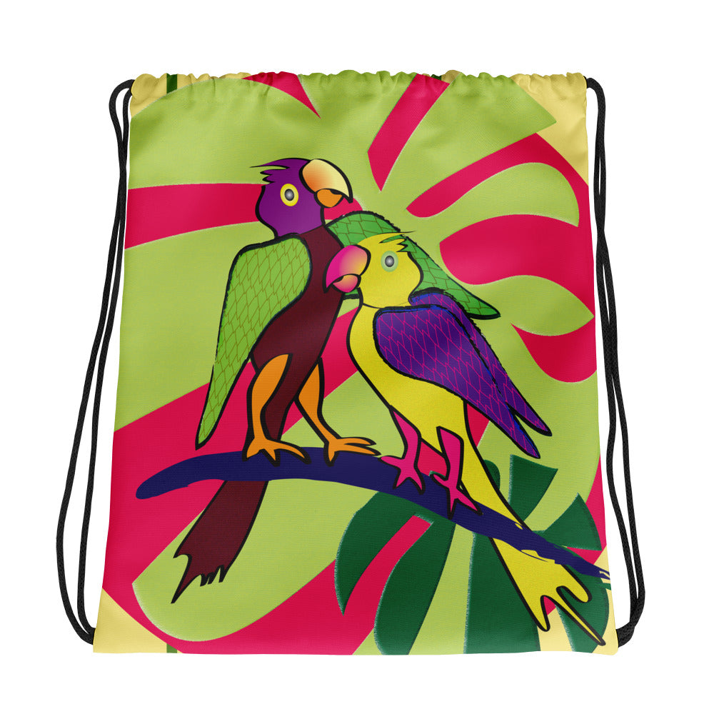 Drawstring Bag - Tropical: Sweethearts 2 by Lidka Schuch