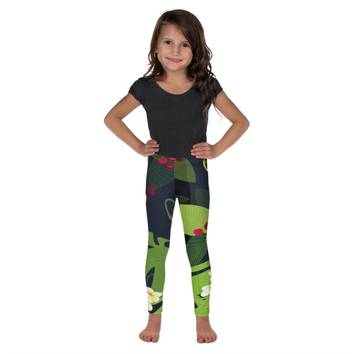 Kid's Leggings - Tropical: Jungle Garden by Lidka Schuch
