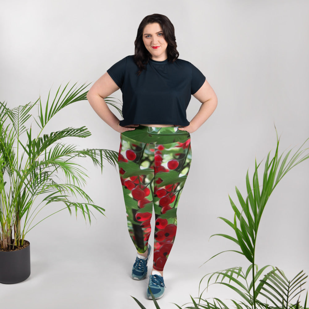Leggings, plus size - Florals: Super Fruit - We Be Jamming by Lidka Schuch