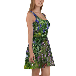 Skater Dress - Florals: Friends of Grape Hyacinth by Lidka Schuch