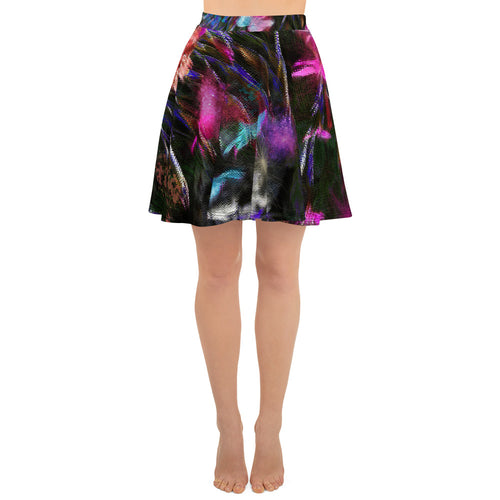 Skater Skirt - Florals: Phlox Party by Night by Lidka Schuch