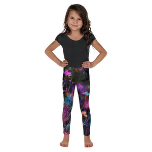 Kid's Leggings - Florals: Phlox Party by Night by Lidka Schuch