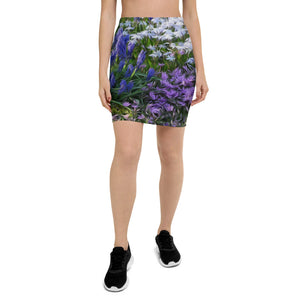 Pencil Skirt - Florals: Friends of Grape Hyacinth by Lidka Schuch