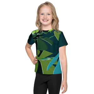 Kid's T-Shirt - Tropical: Spiral Monstera by Lidka Schuch