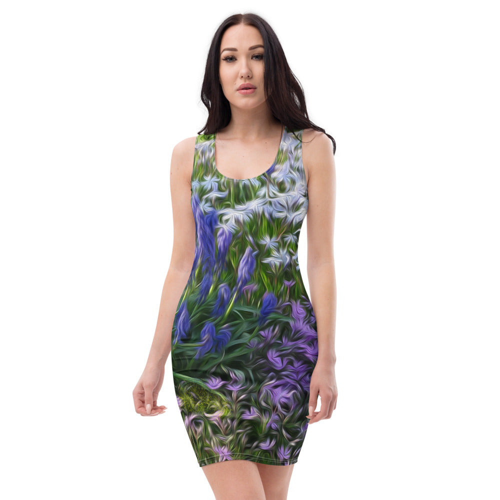 Bodycon | Fitted Dress - Florals: Friends of Grape Hyacinth by Lidka Schuch