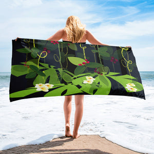 Beach Towel - Tropical: Jungle Garden by Lidka Schuch