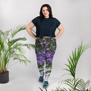Leggings, plus size - Florals: Friends of Grape Hyacinth by Lidka Schuch