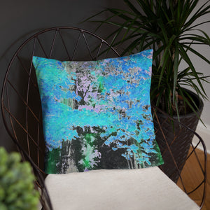 Basic Pillow - Wrapped in Trees: Maples in Blue by Lidka Schuch