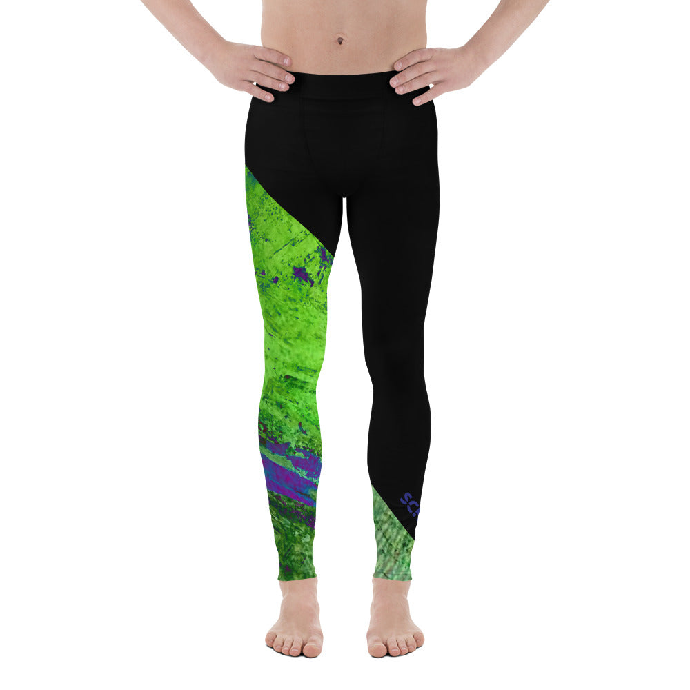 Men's Leggings - SchuchSport: Surf the Green Wave by Lidka Schuch